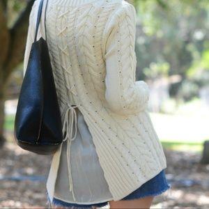 436a3064b5 CAbi Sweaters - CAbi  3187 Lace Up Sweater Fall 2016